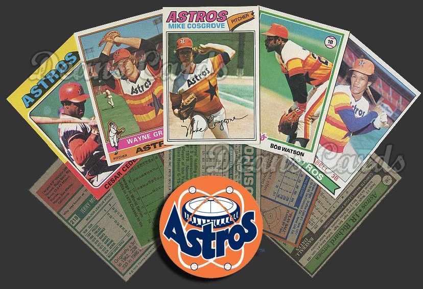 1975 Topps  -79  Houston Astros 50 Card Team Starter Set / Lot